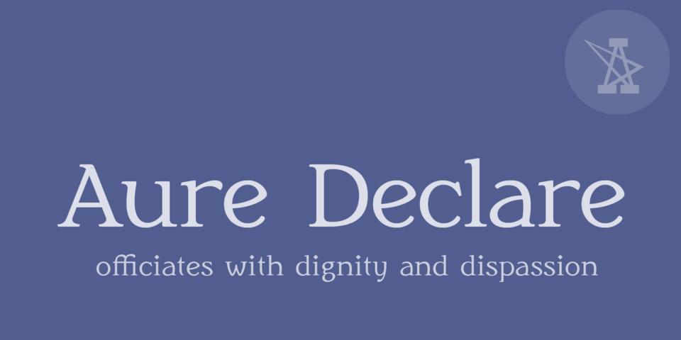 Aure Declare font page