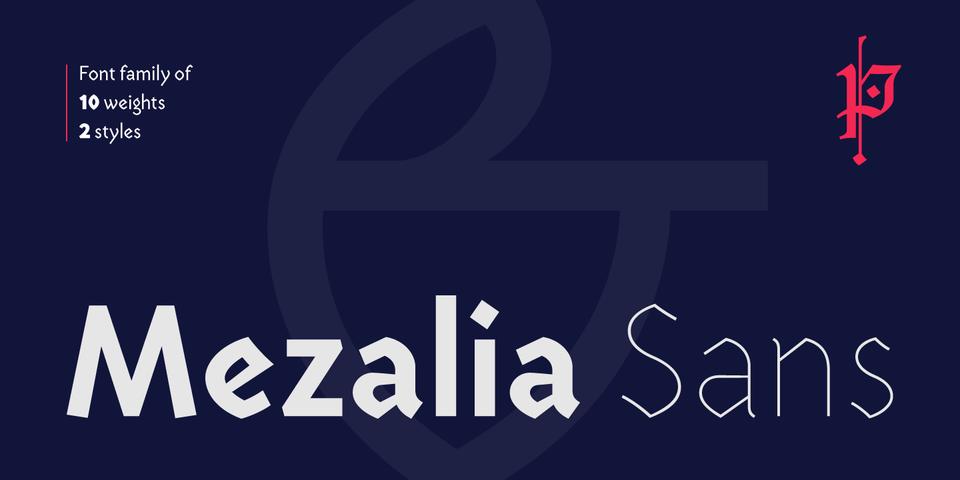 Mezalia Sans font page