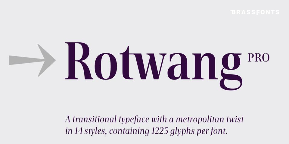 BF Rotwang Pro font page