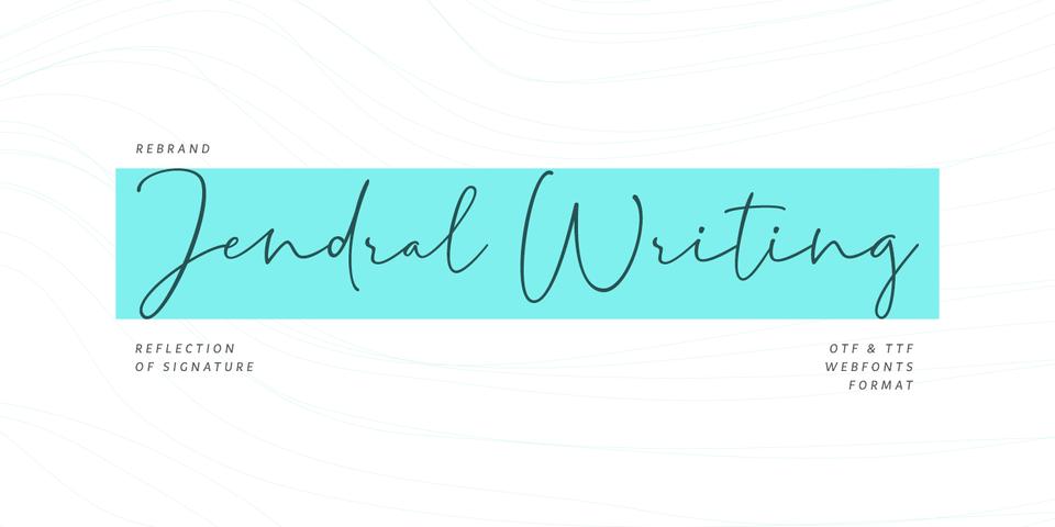 Jendral Writing Pro font page