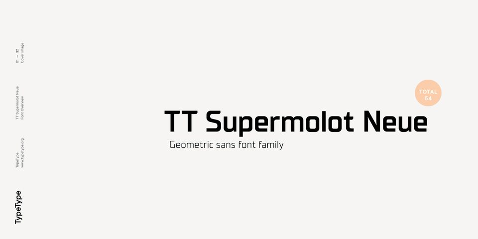 TT Supermolot Neue font page