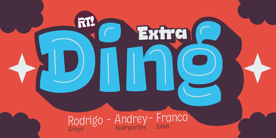 Ding Extra font page