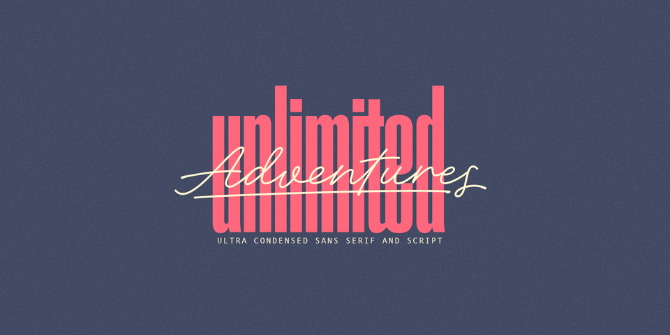 Adventures Unlimited font page