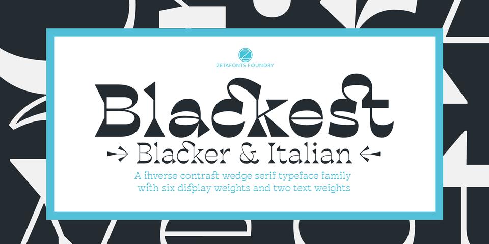 Blackest font page