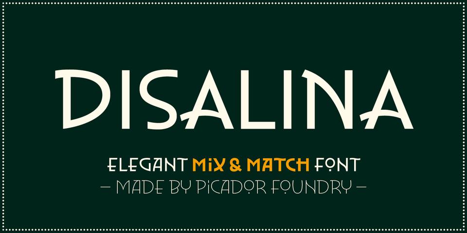 Disalina font page