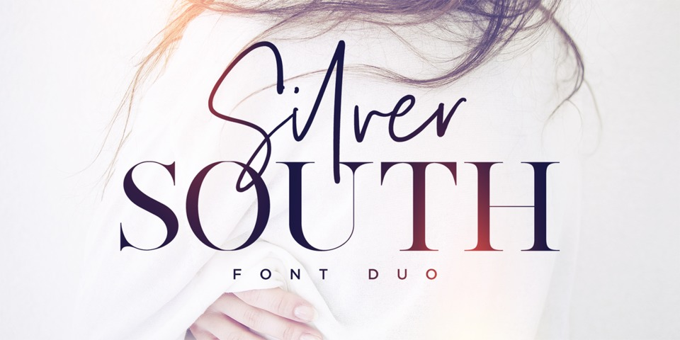 Silver South font page