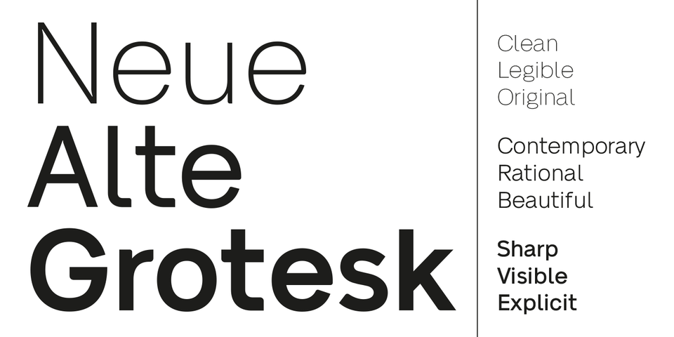 Neue Alte Grotesk font page