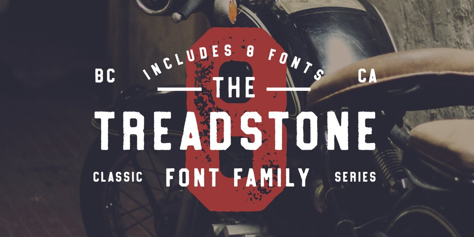 Treadstone font page