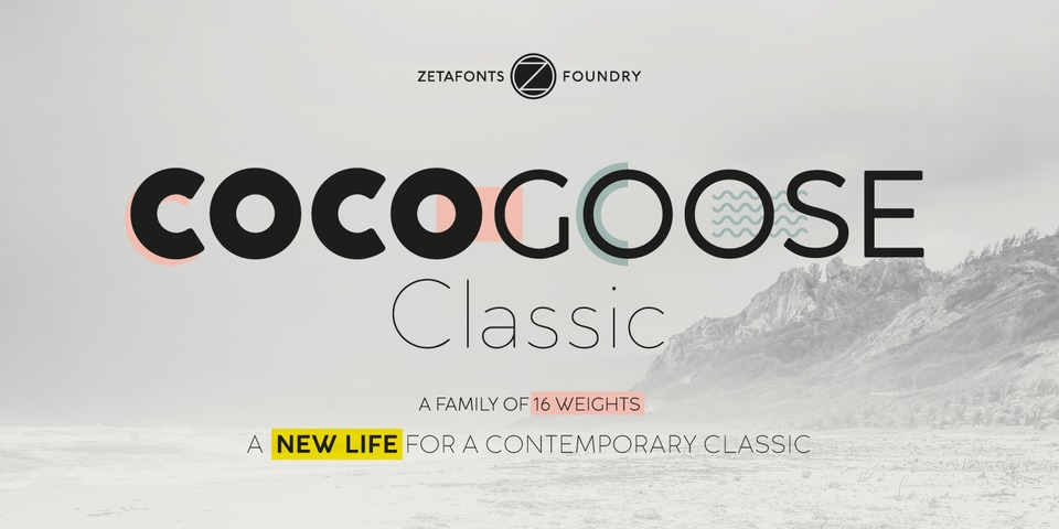 Cocogoose Classic font page