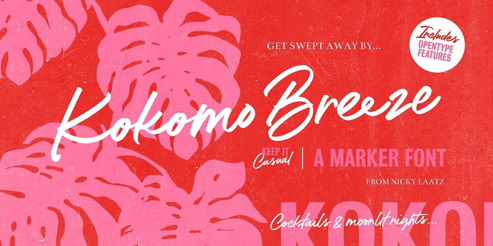 Kokomo Breeze font page