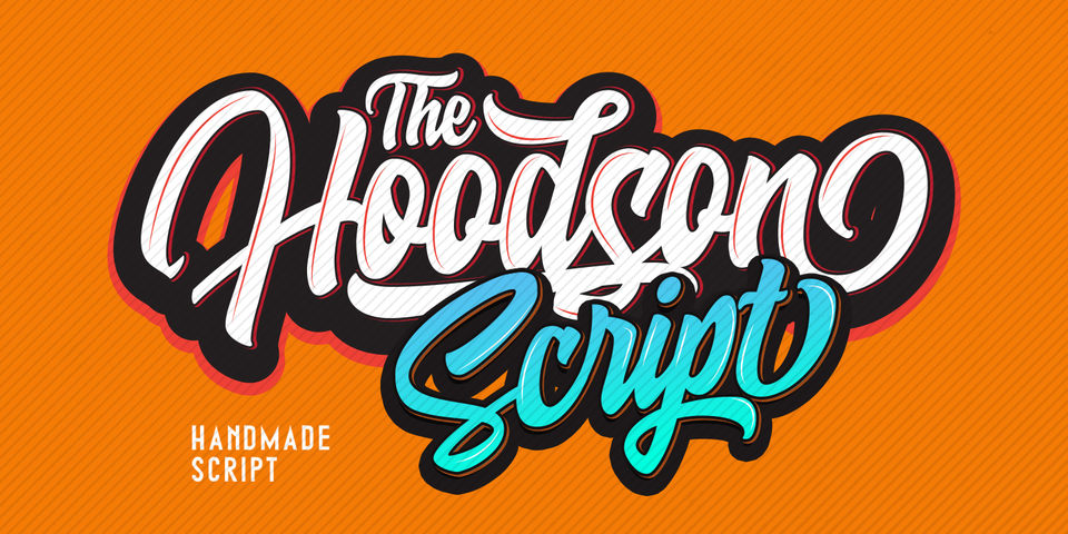 Hoodson font page