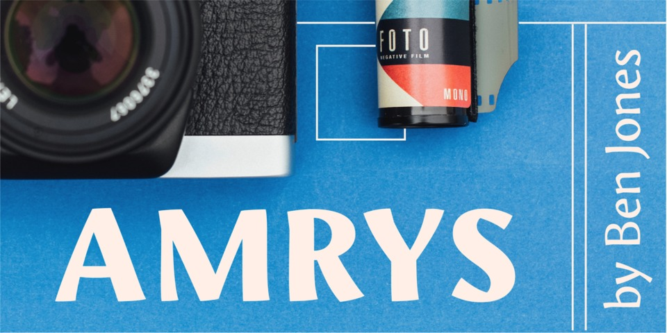 Amrys font page