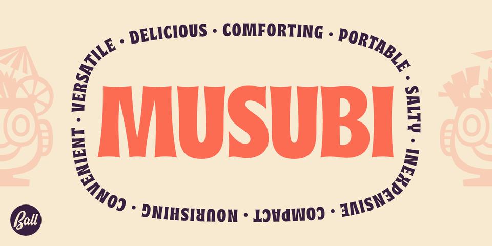 Musubi font page