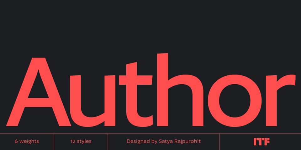 Author font page