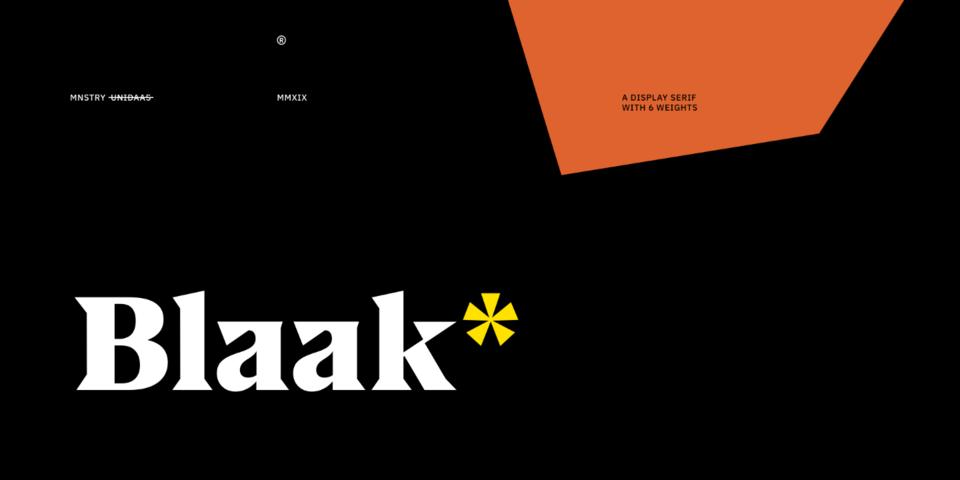 US Blaak font page