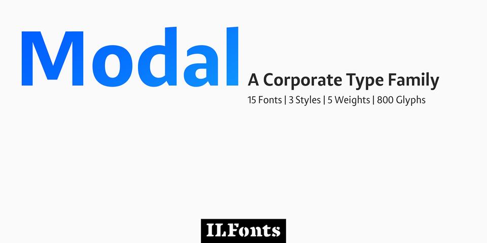 Modal font page