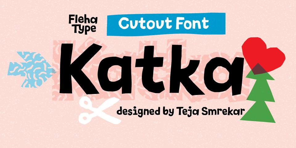 Katka font page