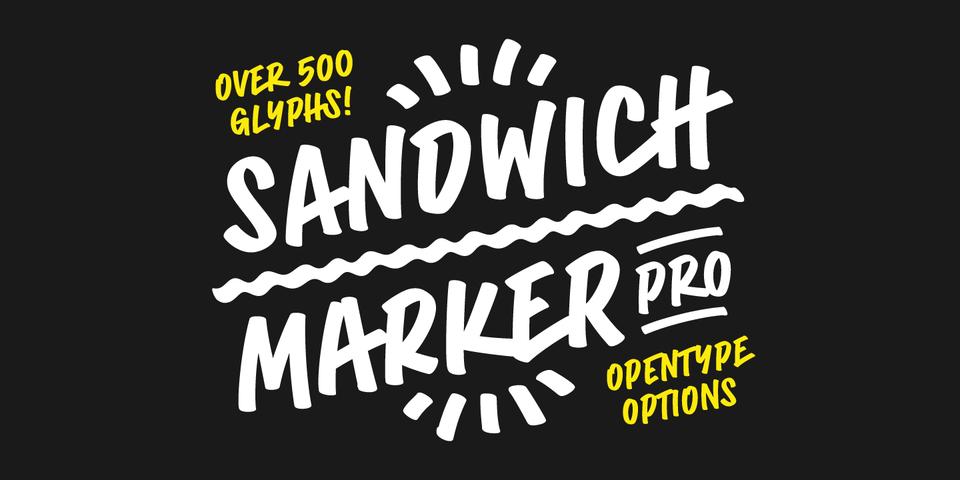 Sandwich Marker Pro font page