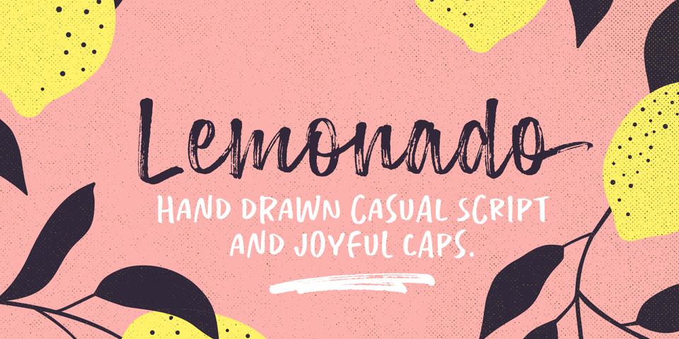 Lemonado font page