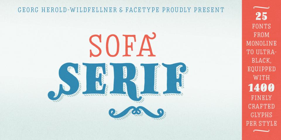 Sofa Serif Hand font page
