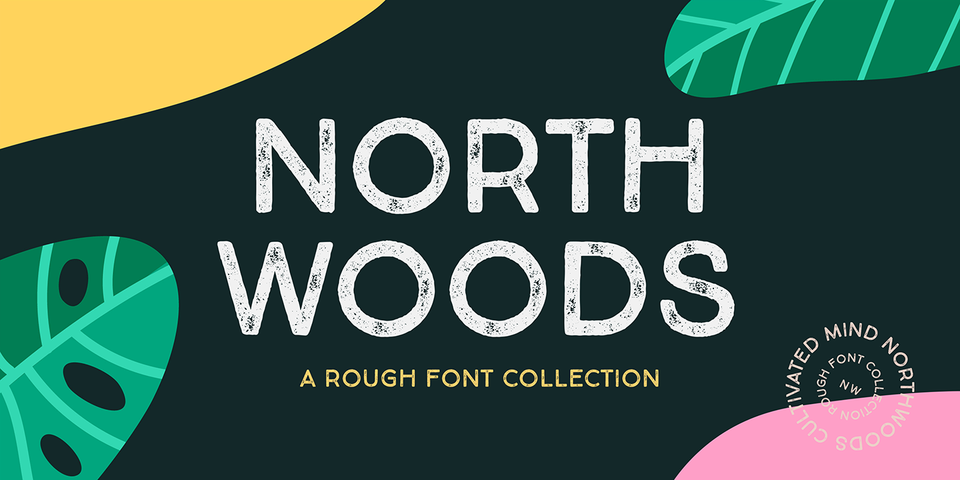 Northwoods Rough font page