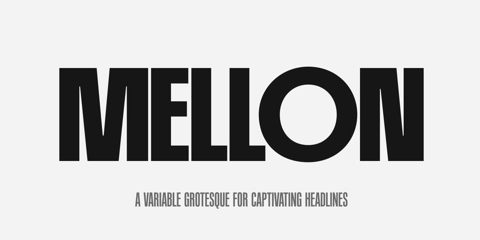 PF Mellon font page