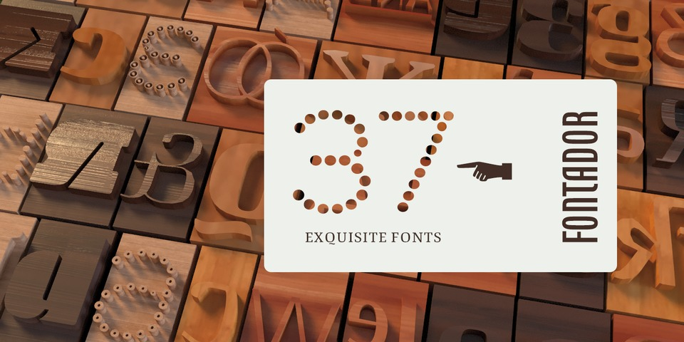 Fontador's Bestselling Fonts by Fontador