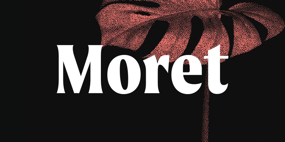 Moret font page