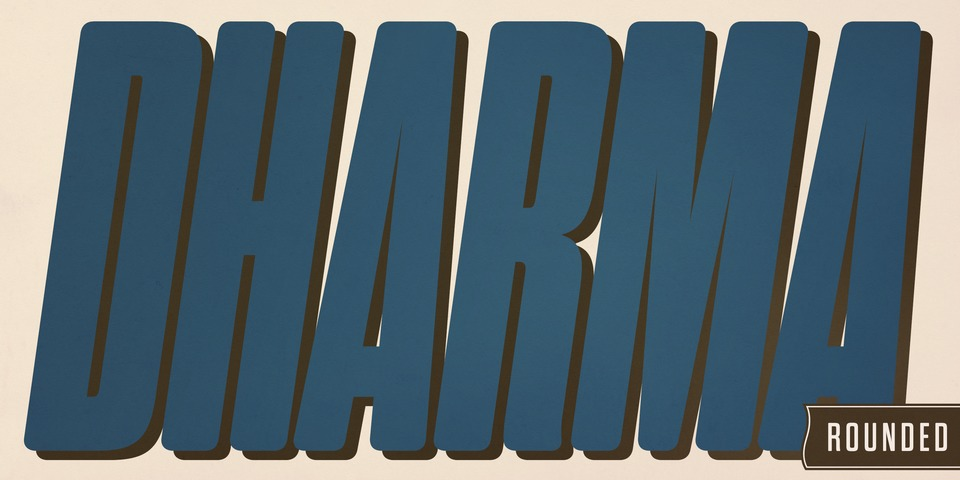 Dharma Gothic Rounded font page