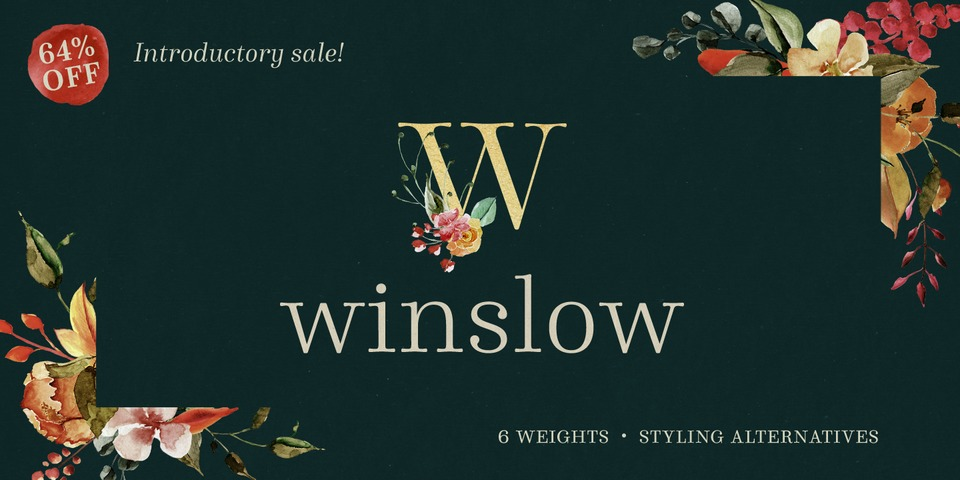 Winslow Book font page