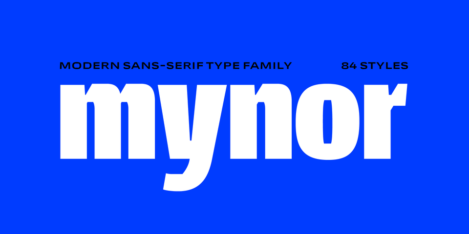Mynor font page