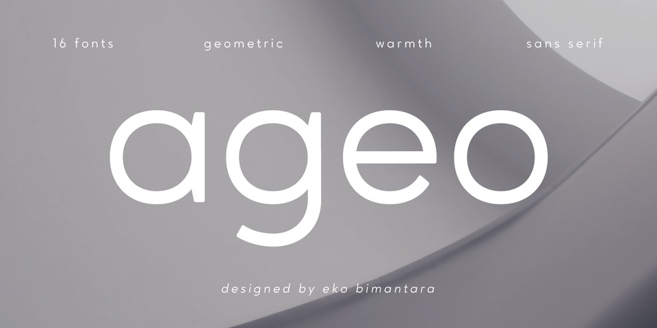 Ageo font page
