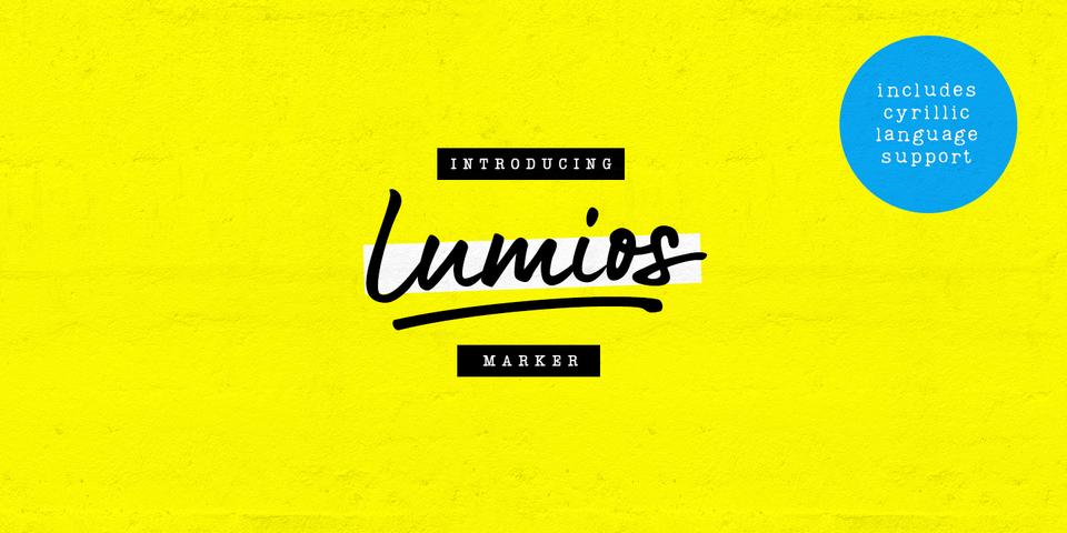 Lumios Marker font page