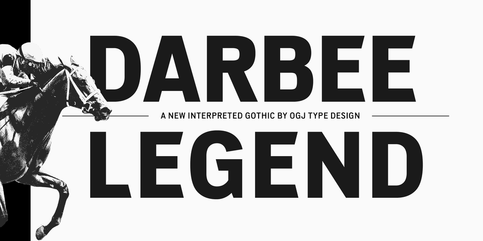Darbee Legend font page
