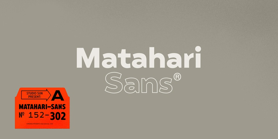 Matahari Sans font page