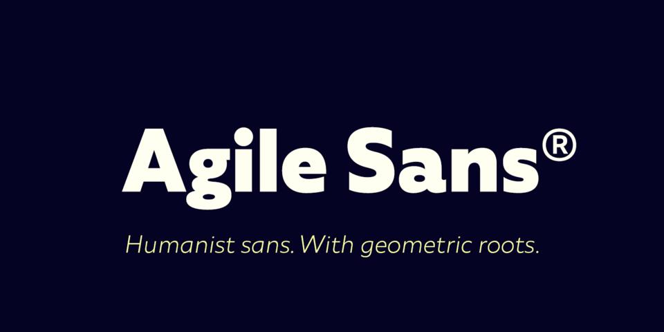 Agile Sans font page