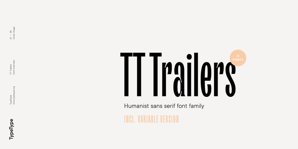 TT Trailers font page