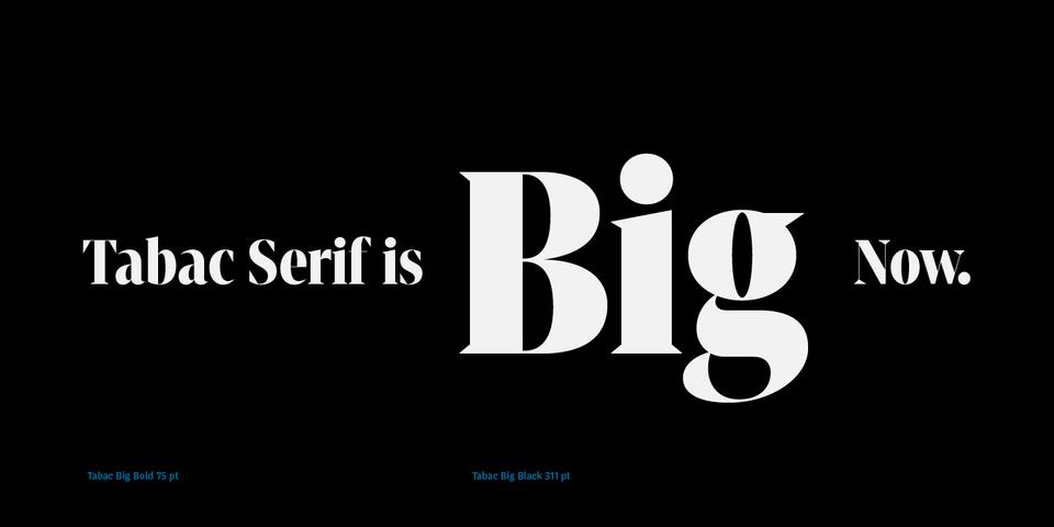 Tabac Big font page