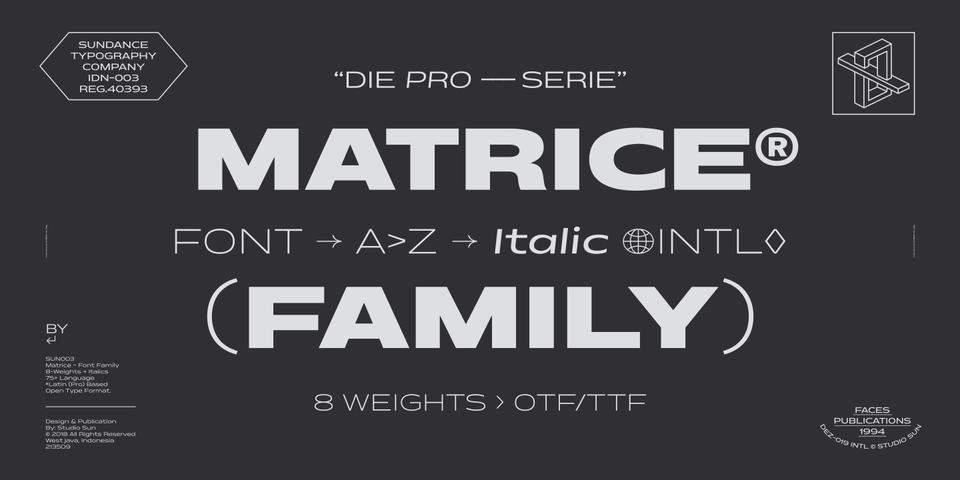 Matrice font page
