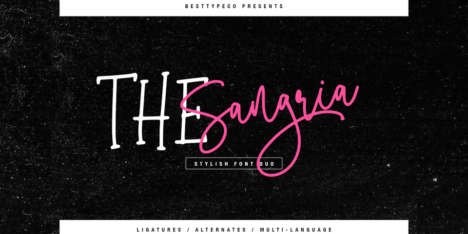 The Sangria font page