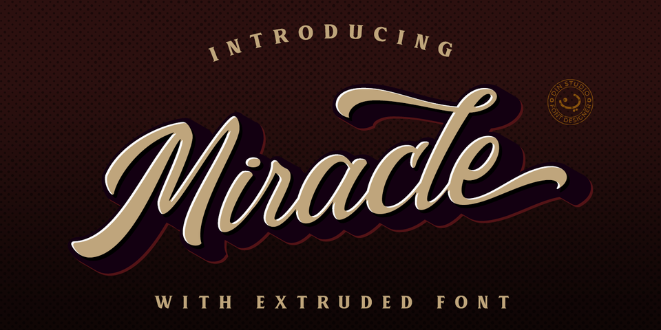 Miracle Script font page