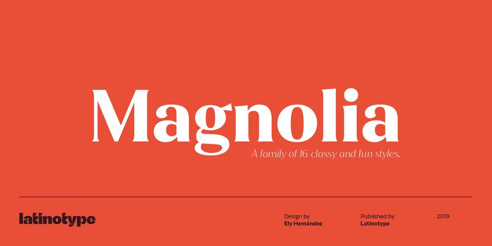 Magnolia font page