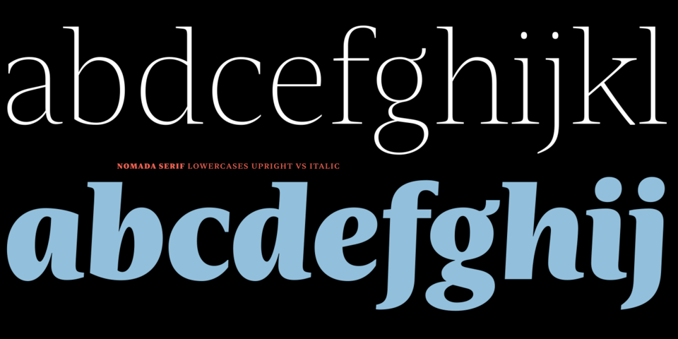 Nomada Serif font page