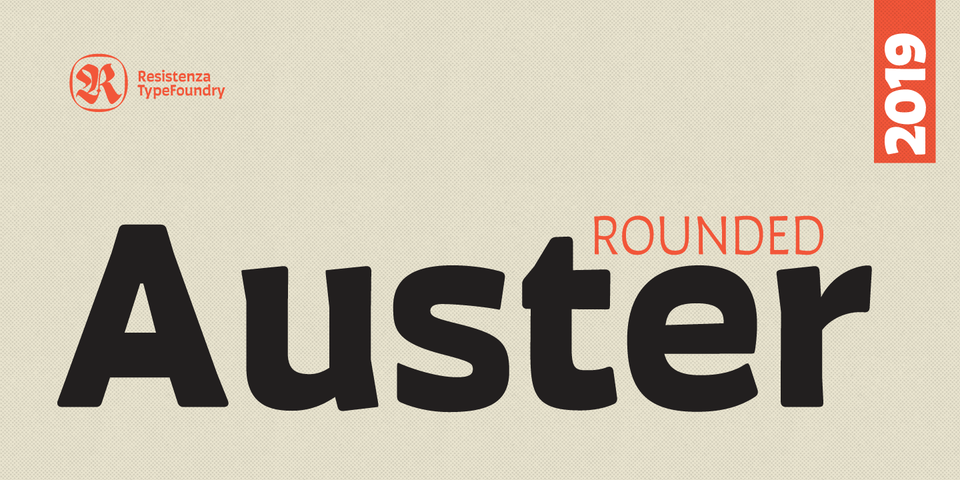 Auster Rounded font page