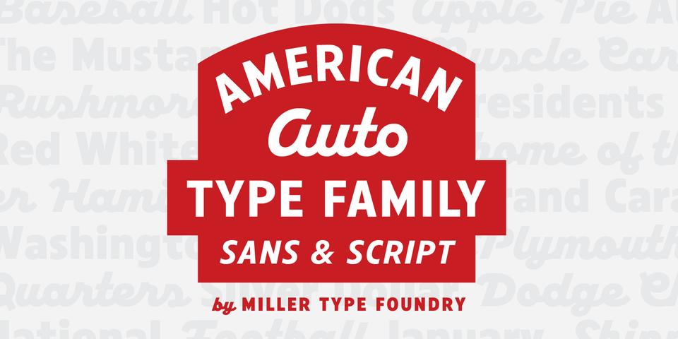American Auto font page