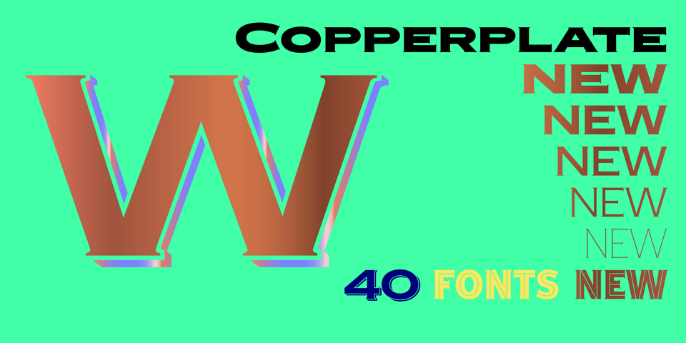 Copperplate New font page