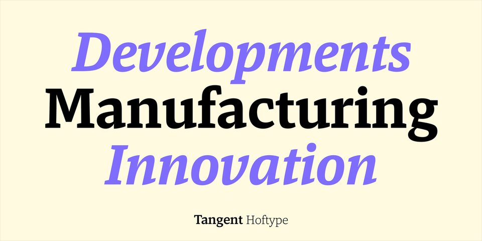 Tangent font page