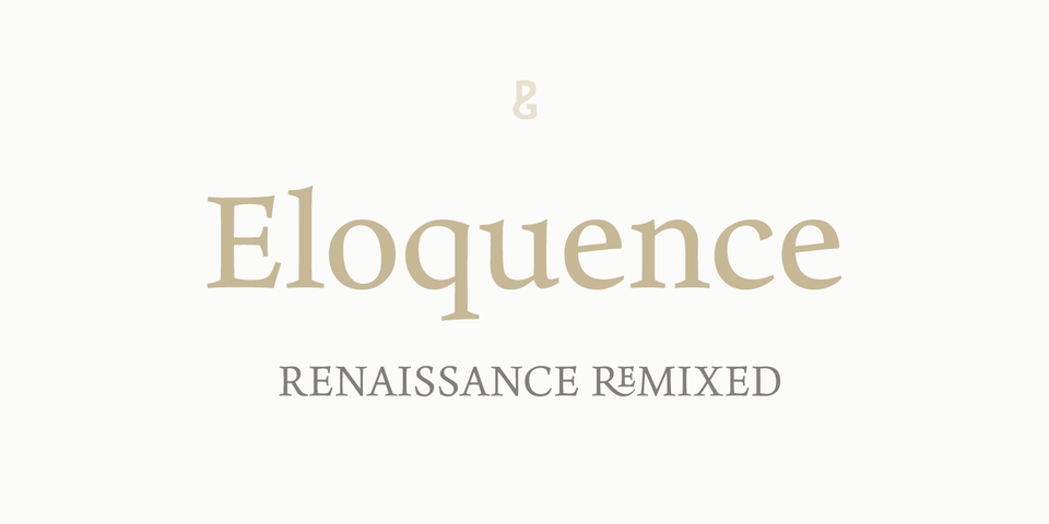 Eloquence font page