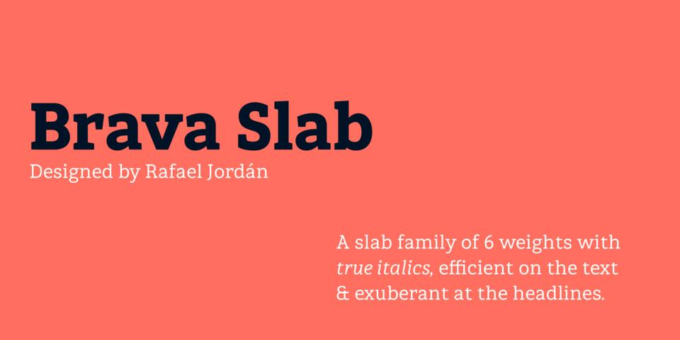 Brava Slab font page