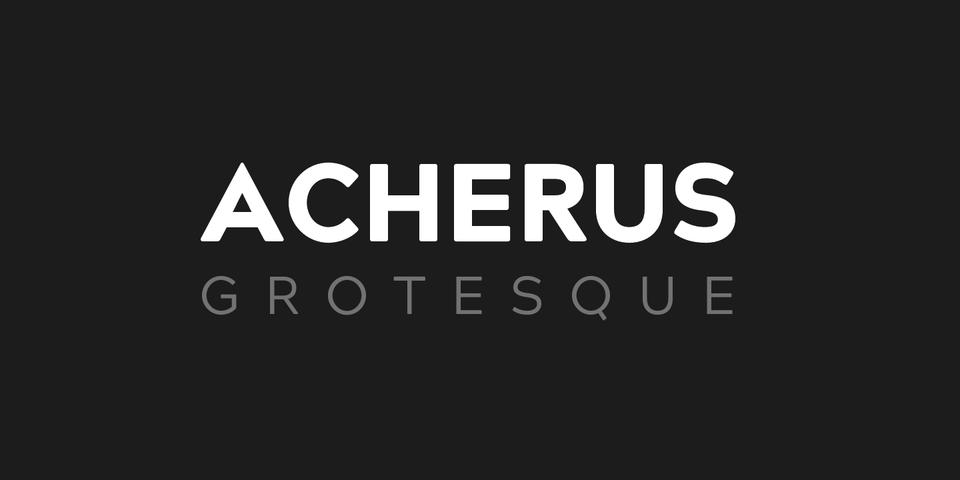 Acherus Grotesque font page